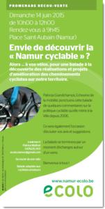 Envie de découvrir la  « Namur cyclable » ?