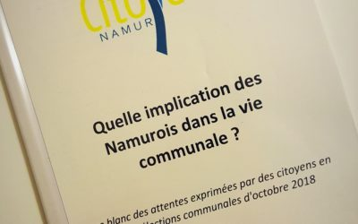 Le Forum Citoyen Namur nous a remis son Livre blanc